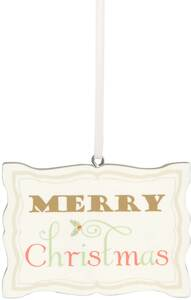 "Merry Christmas by Signs of Happiness - 3""x2"" Hanging Plaque"