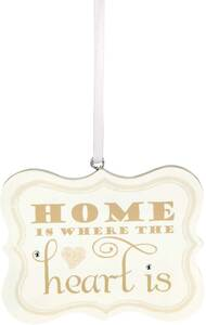 "Home is Where the Heart is by Signs of Happiness - 2.75""x2.25"" Hanging Plaque"