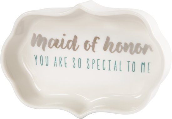 "Maid of Honor by Best Kept Trinkets - Maid of Honor - 4"" Trinket Dish"