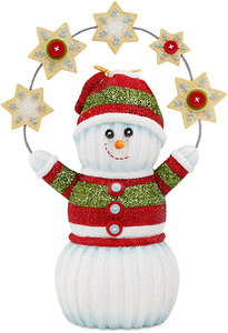 "Let it Snow by The Sockings - 6"" Snowman Holding Snowflakes"