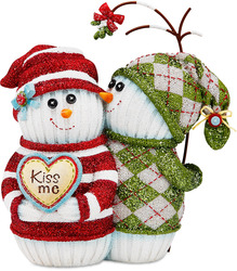 "Love by The Sockings - 4.5"" Snowmen with Mistletoe"