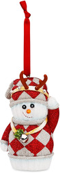"Holiday Fun by The Sockings - 4"" Snowman Reindeer Ornament"