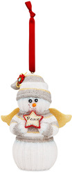 "Peace by The Sockings - 4"" Snowman Angel Ornament"