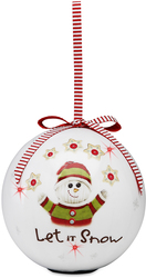 Let it Snow by The Sockings - 100mm Blinking Ornament