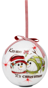 Kiss Me by The Sockings - 100mm Blinking Ornament