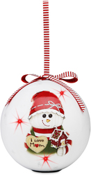 I Love Mom by The Sockings - 100mm Blinking Ornament
