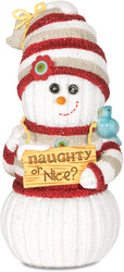 "Naughty or Nice? by The Sockings - 5"" Snowman with Snowball"