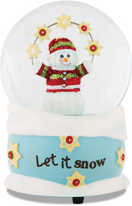 Let it Snow by The Sockings - 100mm Musical Water Globe