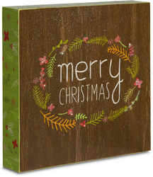 "Merry Christmas by Star of Wonder - 8"" x 8"" Plaque"