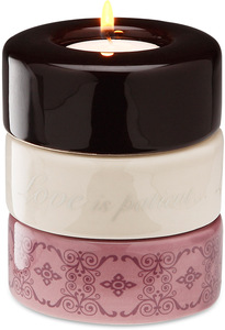 "Love is Patient (Purple) by Calla - Trio - 3.25""x4"" Stack Candle Holder"