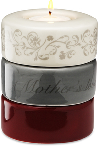 "Mother (Red) by Calla - Trio - 3.25""x4"" Stack Candle Holder"