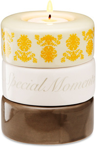 "Friend (Yellow) by Calla - Trio - 3.25"" x 4"" Stack Candle Holder"