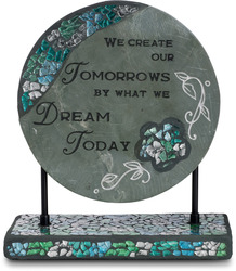 "Dream by Fragments - 8""Slate Plaque w/Mosaic Base"