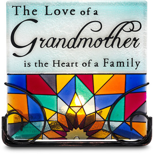 "Grandmother by Shine on Me - 5"" Glass Tea Light/Candle Holder"