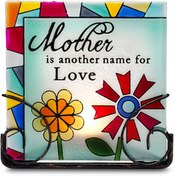"Mother by Shine on Me - 5"" Glass Tea Light Holder"