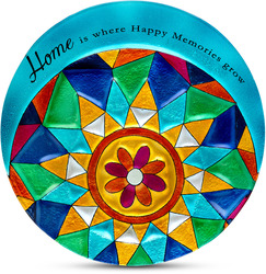 "Home by Shine on Me - 12"" Round Glass Plate"