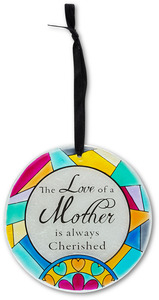 "Mother by Shine on Me - 4"" Glass Ornament"