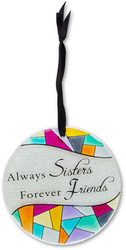 "Sister by Shine on Me - 4"" Dia. Glass Ornament"