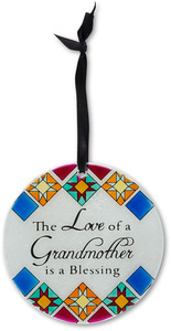 "Grandmother by Shine on Me - 4"" Dia. Glass Ornament"