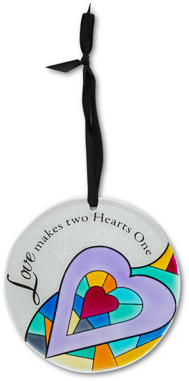 "Love by Shine on Me - Love - 4"" Dia. Glass Ornament"