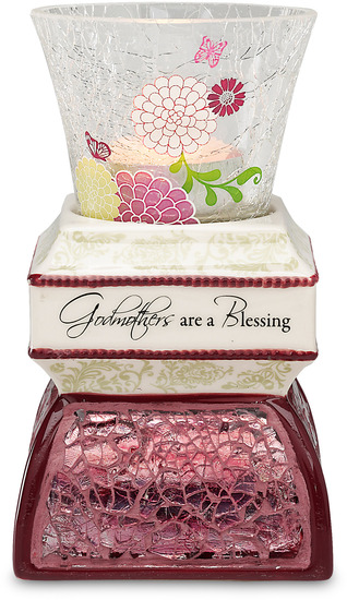 Godmother by UpWords - UpWords is a collection of high quality crackled glass items including candle trays, display dishes, picture frames and more. These items will compliment your decorative needs or gift needs. Designed by Pavilion Gift Company.
